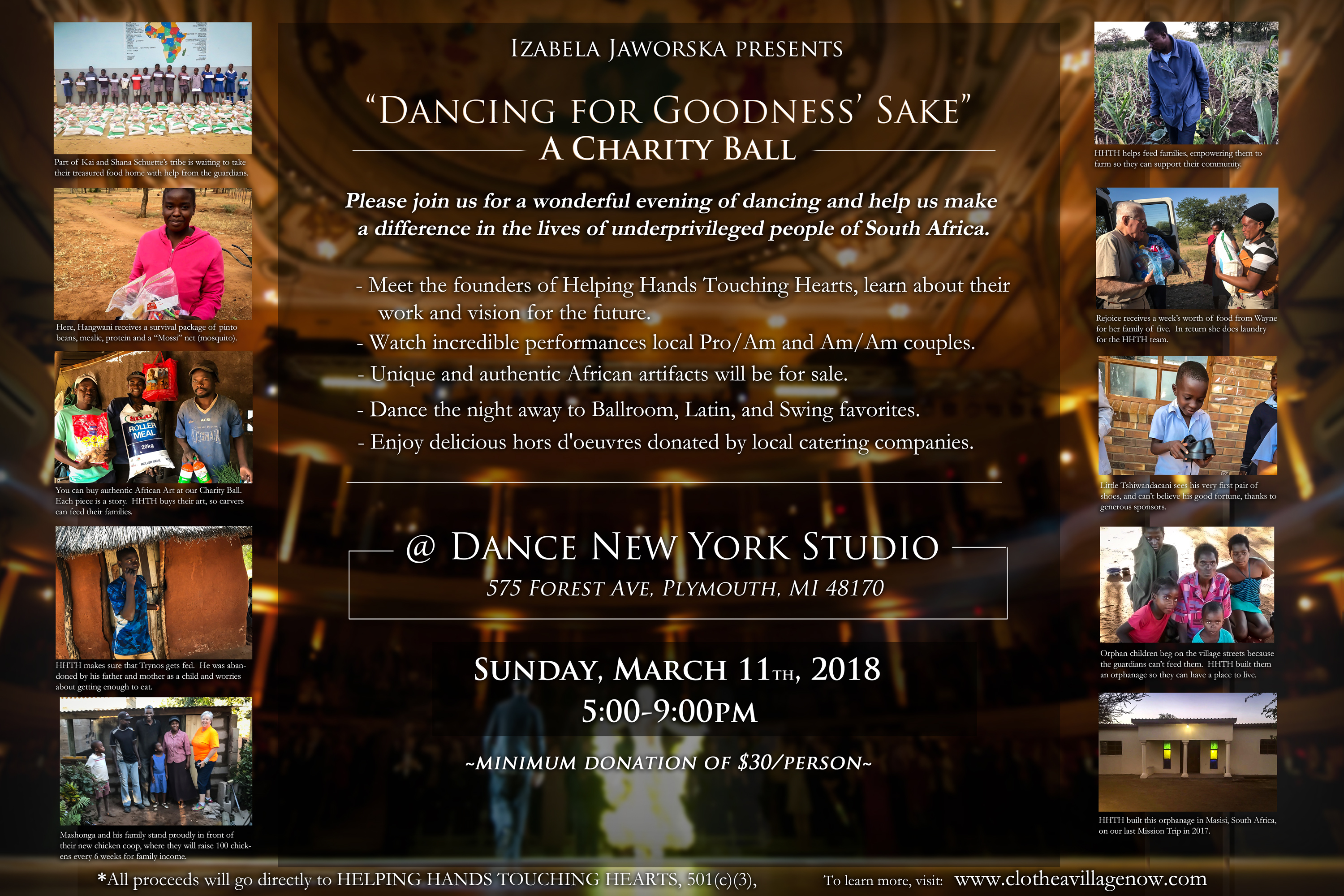 Dancing For Goodness' Sake Charity Ball Poster